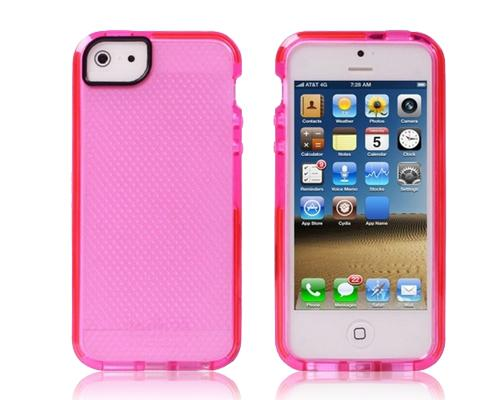 Mesh Series iPhone 5 and 5S Silicone Case - Pink