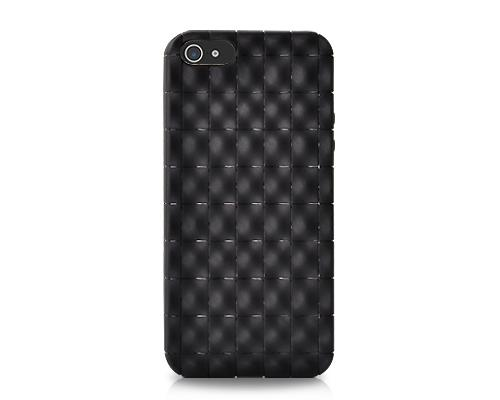 Coffer Series iPhone 5 and 5S Silicone Case - Black
