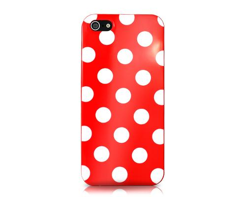 Spot Series iPhone 5 and 5S Silicone Case - Red
