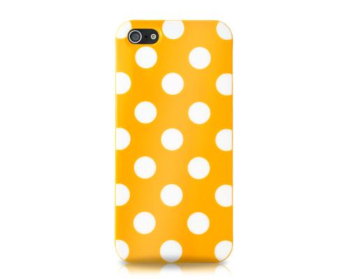 Spot Series iPhone 5 and 5S Silicone Case - Orange