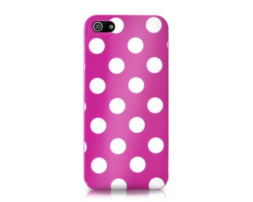 Spot Series iPhone 5 and 5S Silicone Case - Purple