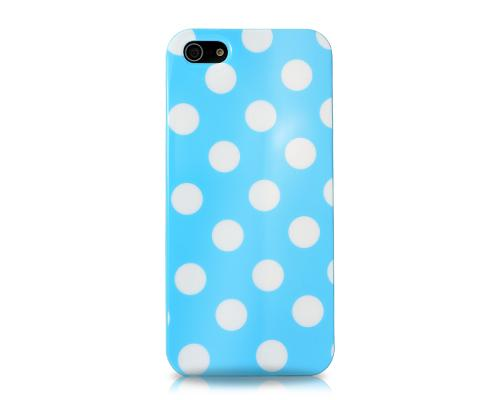 Spot Series iPhone 5 and 5S Silicone Case - Ice Blue