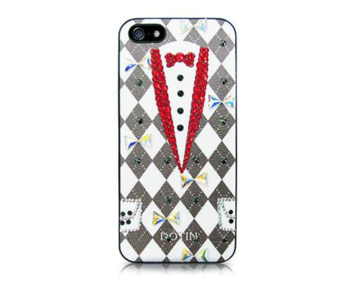 Tuxedo Bling Swarovski Crystal Phone Cases - Red