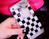 Luxury Diamond Series Bling iPhone 6 Crystal Case (4.7 inches) - Zebra