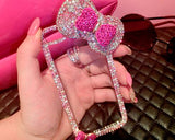Chic Bow Series Bling iPhone 6 Crystal Case (4.7 inches) - Pink 2
