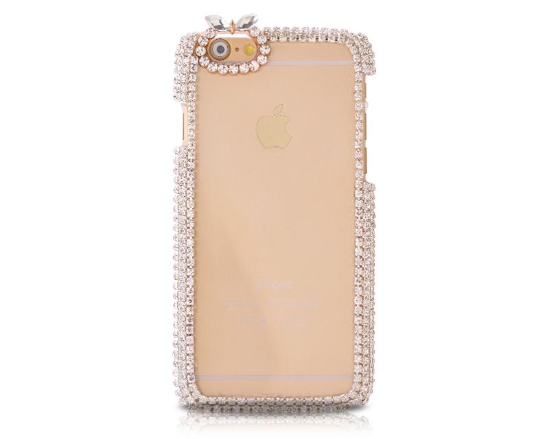 Chic Bow Series Bling iPhone 6 Crystal Case (4.7 inches) - White
