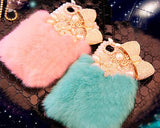 Stylish Furry Series Bling iPhone 6 and 6S Crystal Case - Blue