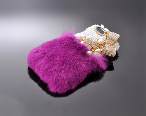Stylish Furry Series Bling iPhone 6 Crystal Case - Dark Purple