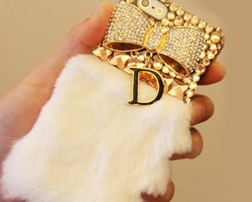 Stylish Furry Series iPhone 6 and 6S Crystal Case - Gold