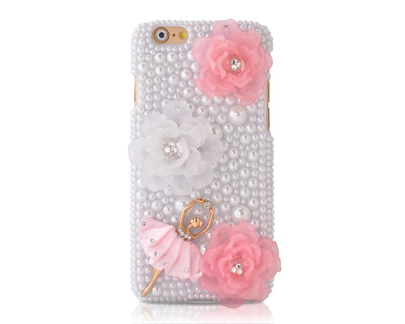 3D Flower Series Bling iPhone 6 Crystal Case (4.7 inches) - Girl