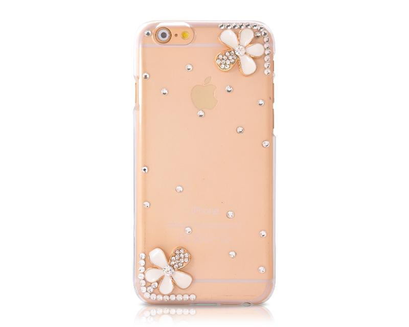 3D Diamond Series iPhone 6 Crystal Case (4.7 inches) - Petals