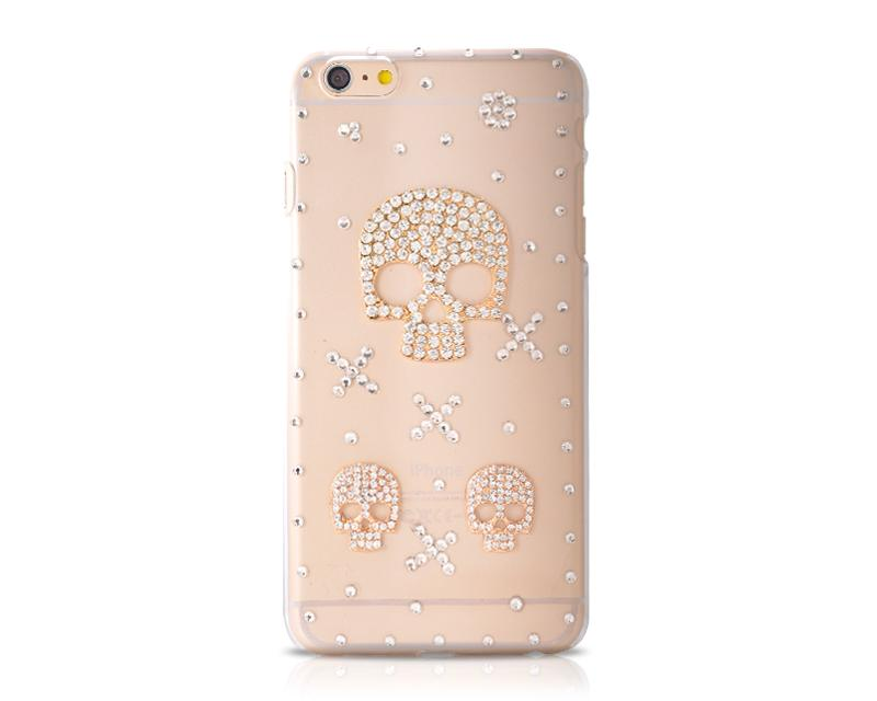 3D Diamond Series iPhone 6 and 6S Crystal Case - Skull