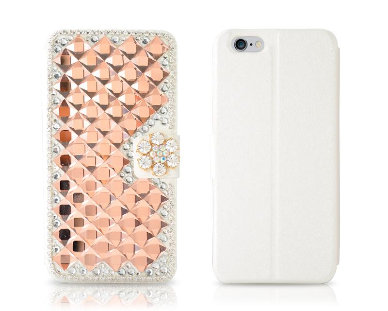 Diamond Series iPhone 6 Flip Leather Case (4.7 inches) - Snowflake