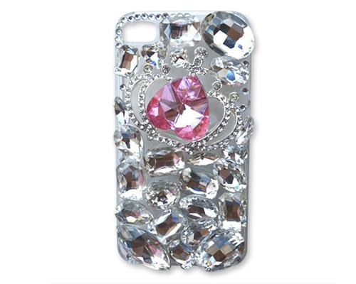 Rainbow Rhinestone Series iPhone 6 Crystal Case - Heart