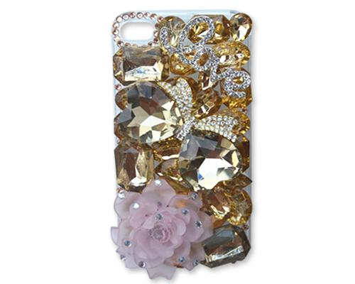 Rainbow Rhinestone Series iPhone 6 Crystal Case - Love