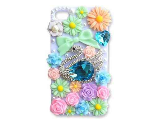 Rainbow Rhinestone Series iPhone 6 and 6S Crystal Case - Swan