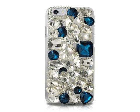 Rainbow Rhinestone Series iPhone 6 and 6S Crystal Case - Navy