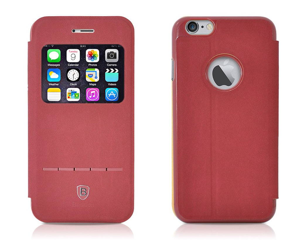 Eyelet Pro Series iPhone 6 Flip Leather Case (4.7 inches) - Burgundy