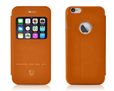 Eyelet Pro Series iPhone 6 Flip Leather Case (4.7 inches) - Brown