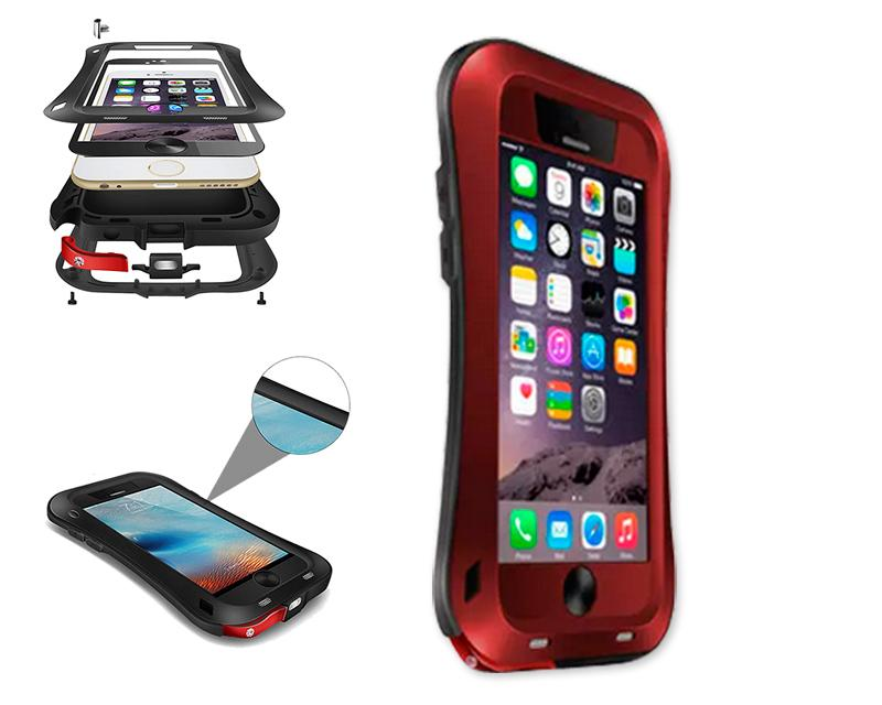 Waterproof Pro Series iPhone 6 Metal Case (4.7 inches) - Red