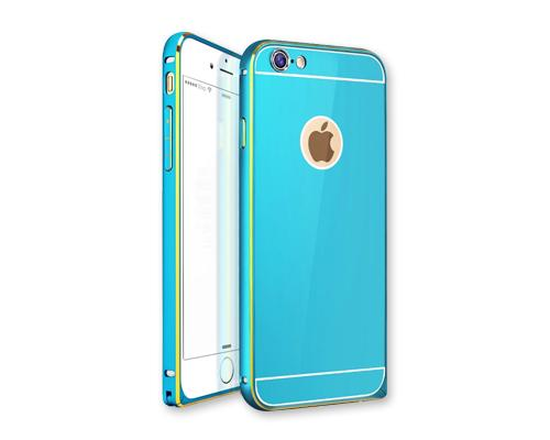 Stylish Bumper Series iPhone 6 Aluminum Case - Blue