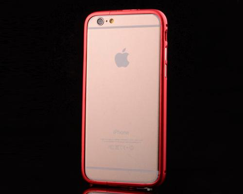 Bumper Stand Series iPhone 6 and 6S Metal Case - Red
