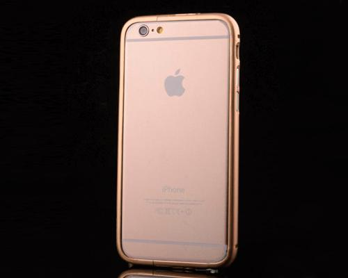 Bumper Stand Series iPhone 6 Metal Case - Gold