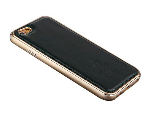 Seam Series iPhone 6 Genuine Leather Case (4.7 inches) - Black+Gold