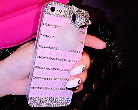 Luxury Diamond Series Bling iPhone 6 Plus Crystal Case - Pink
