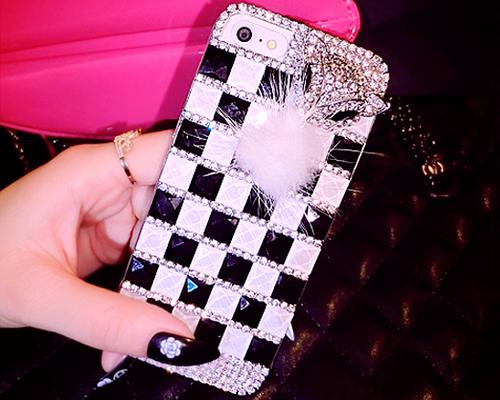 Luxury Diamond Series Bling iPhone 6 Plus Crystal Case - Zebra