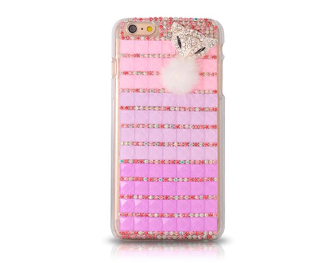 Luxury Diamond Series Bling iPhone 6 Plus Crystal Case - Magenta