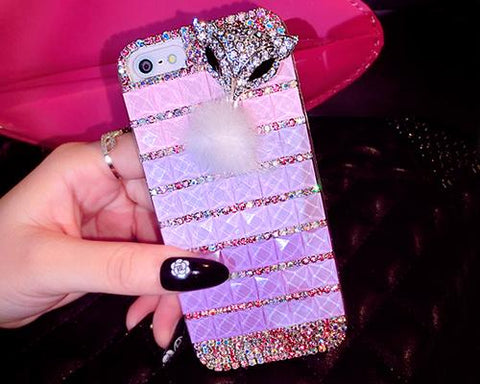 Luxury Diamond Series Bling iPhone 6 Plus Crystal Case - Purple