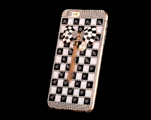 Luxury Diamond Series Bling iPhone 6 Plus Crystal Case - Ribbon