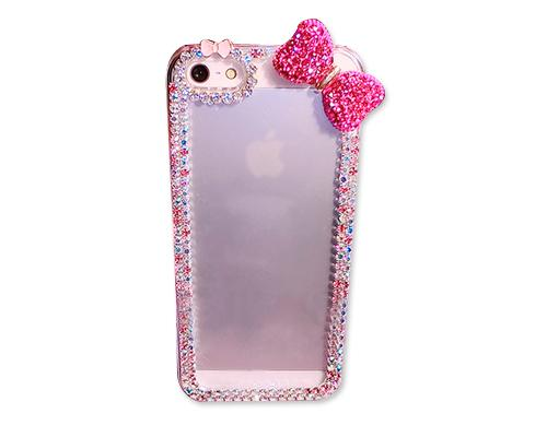 Chic Bow Series Bling iPhone 6 Plus and 6S Plus Crystal Case - Pink 1