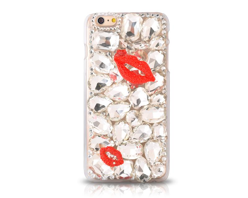 3D Rhinestone Series iPhone 6 Plus and 6S Plus Crystal Case - Lips