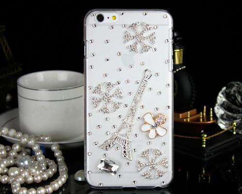 3D Diamond Series iPhone 6 Plus and 6S Plus Crystal Case - Eiffel