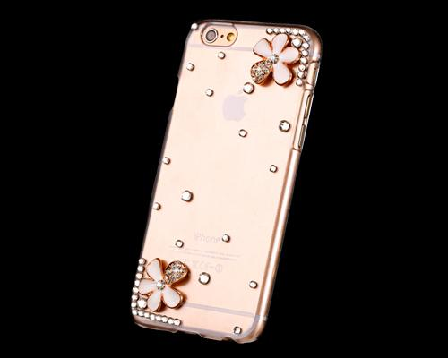 3D Diamond Series iPhone 6 Plus and 6S Plus Crystal Case - Petals