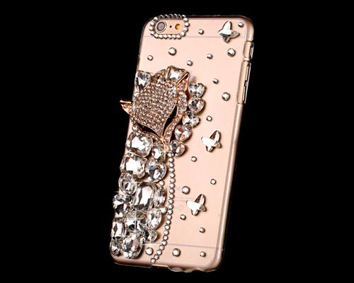 3D Diamond Series iPhone 6 Plus and 6S Plus Crystal Case - Fox