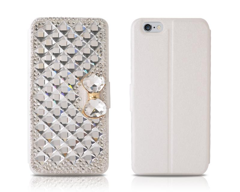 Diamond Series iPhone 6 Plus and 6S Plus Flip Leather Case - Bow