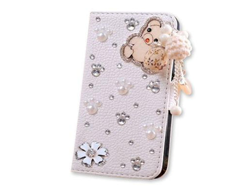 Diamond Series iPhone 6 Plus and 6S Plus Flip Leather Case - Bear