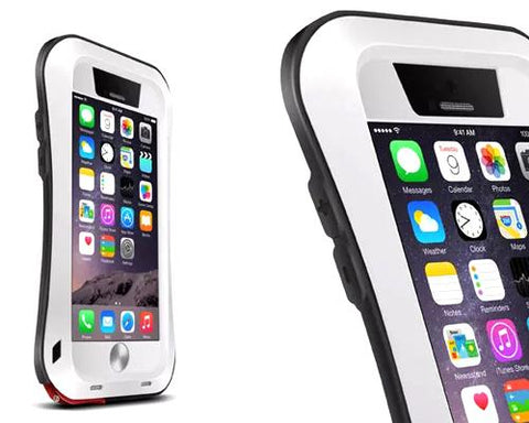 Waterproof Pro Series iPhone 6 Plus and 6S Plus Metal Case - White