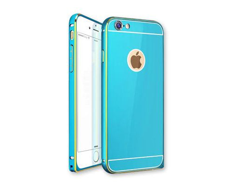 Stylish Bumper Series iPhone 6 Plus and 6S Plus Aluminum Case - Blue