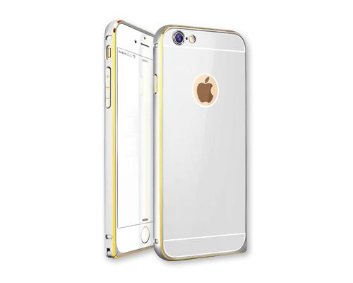 Stylish Bumper Series iPhone 6 Plus and 6S Plus Aluminum Case - Silver