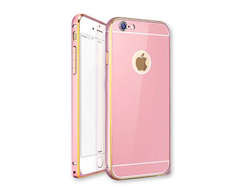 Stylish Bumper Series iPhone 6 Plus and 6S Plus Aluminum Case - Pink