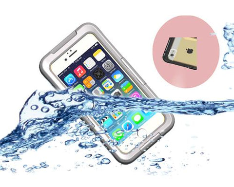 Waterproof Series iPhone 6 Plus and 6S Plus PC Case - White