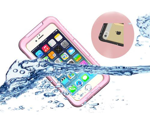 Waterproof Series iPhone 6 Plus and 6S Plus PC Case - Pink