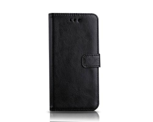Fold Series iPhone 6 Plus and 6S Plus Flip Leather Case - Black