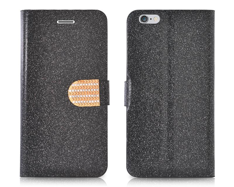 Twinkle Series iPhone 6 Plus Flip Leather Case (5.5 inches) - Black