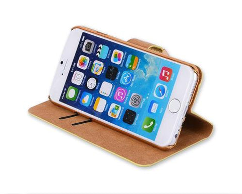 Twinkle Series iPhone 6 Plus Flip Leather Case (5.5 inches) - Gold