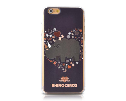 We Love Our Wild Series iPhone 6 Plus and 6S Plus Case - Rhinoceros
